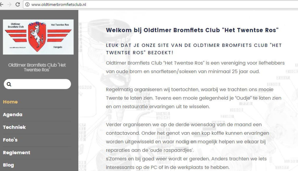 Oldtimer Bromfiets Club Het Twentse Ros, Labweb.nl, website maken