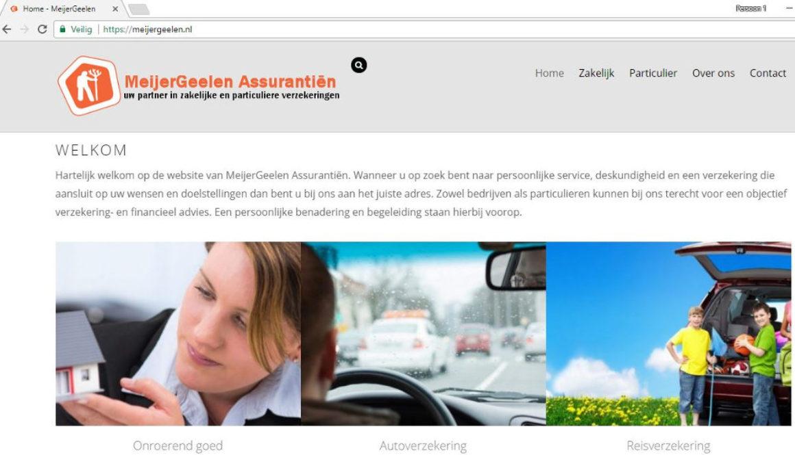 MeijerGeelen Assurantiën, Labweb.nl, website maken, portfolio
