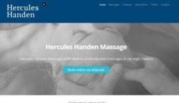 Hercules Handen Massage, portfolio Labweb.nl, website maken